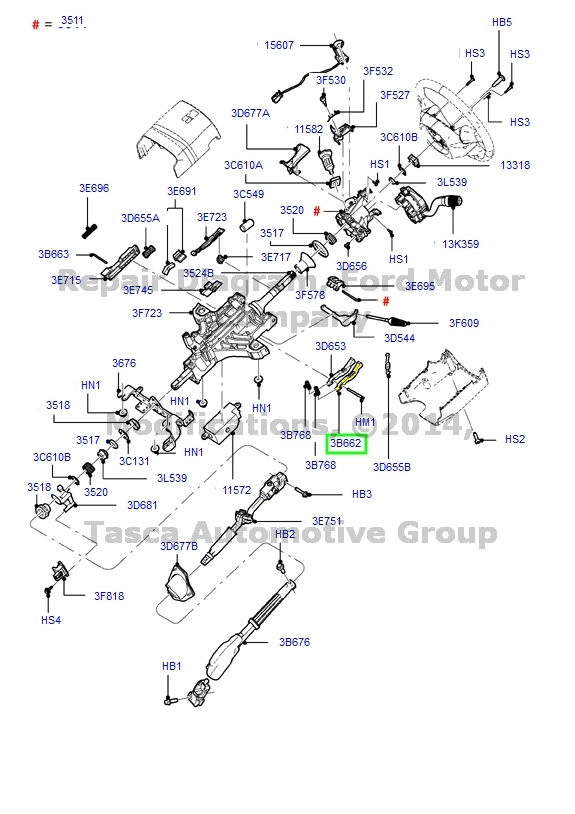 Diagram For 1997 Mercury Mountaineer Steering