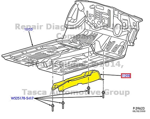 NEW OEM FRONT FLOOR PAN HEAT DEFLECTOR CONTINENTAL 2000-7