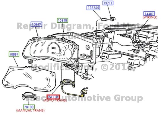 NEW OEM TRANSMISSION CONTROL SELECTOR INDICATOR F150 F250