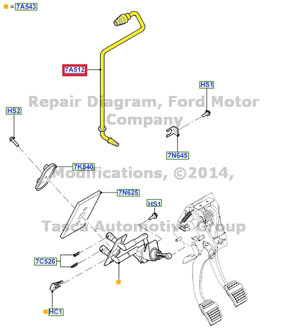 BRAND NEW OEM MANUAL CLUTCH MASTER TO SLAVE CYLINDER TUBE