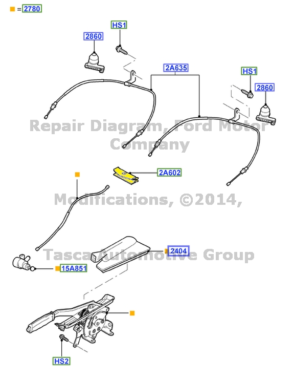 NEW OEM PARKING BRAKE EQUALIZER 2000-2002 LINCOLN LS 2002