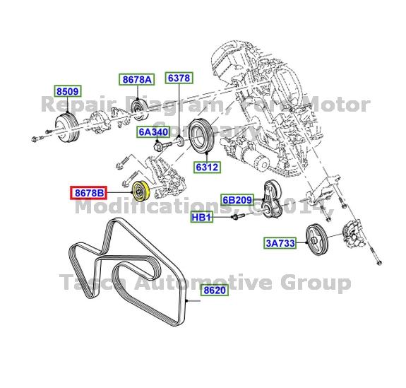 OEM DRIVE BELT PULLEY IDLER W/ FLANGE 3.9L 2002-2006 LS