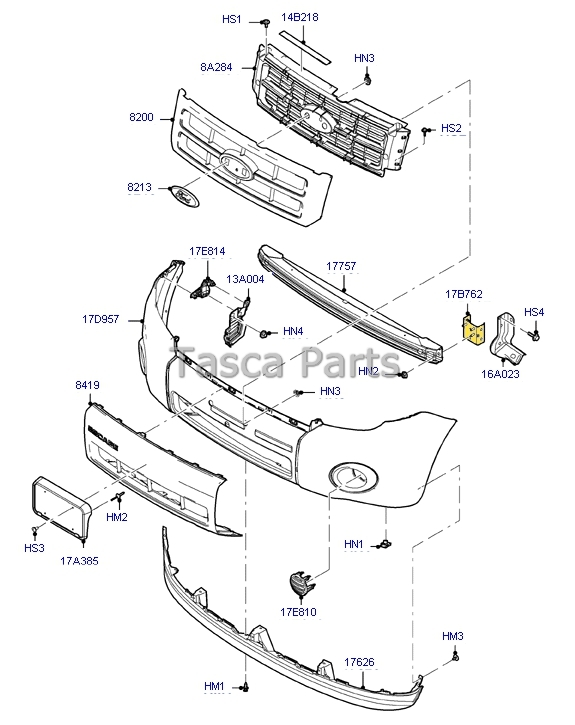 NEW OEM LH LEFT SIDE FRONT BUMPER BRACKET 2005-2008 FORD