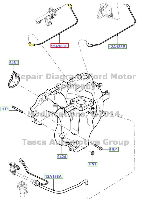 BRAND NEW OEM INTAKE MANIFOLD VACUUM HOSE 2.0L V4 ENGINE