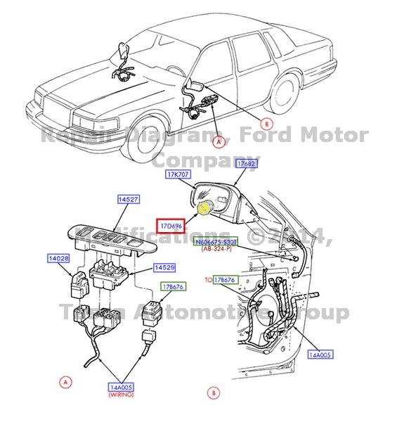 BRAND NEW OEM RH OR LH SIDE MIRROR MOTOR 1998-2011 LINCOLN
