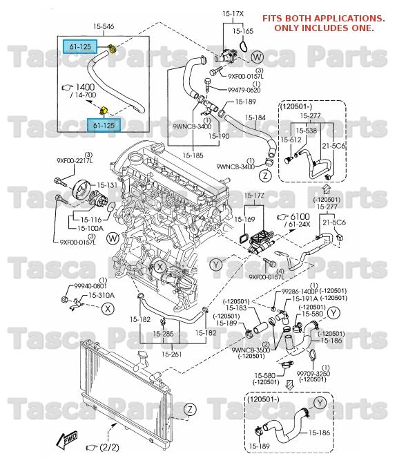 MAZDA OEM 12-15 CX-9 3.7L-V6 Radiator-Tube Clamp B32T61242