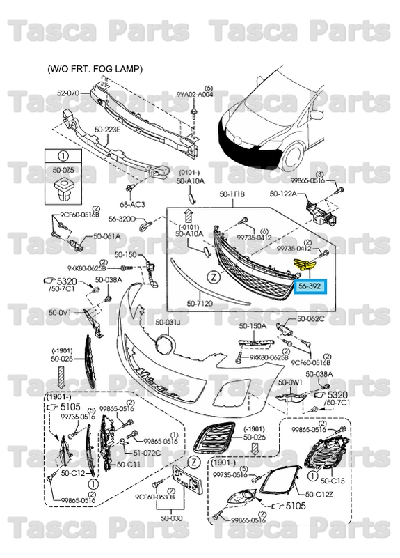 BRAND NEW OEM LH FRONT BUMPER MESH GRILLE SEAL PLATE 2010