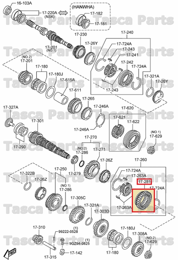 NEW OEM MANUAL TRANSMISSION REVERSE GEAR 2006-2010 MAZDA 5