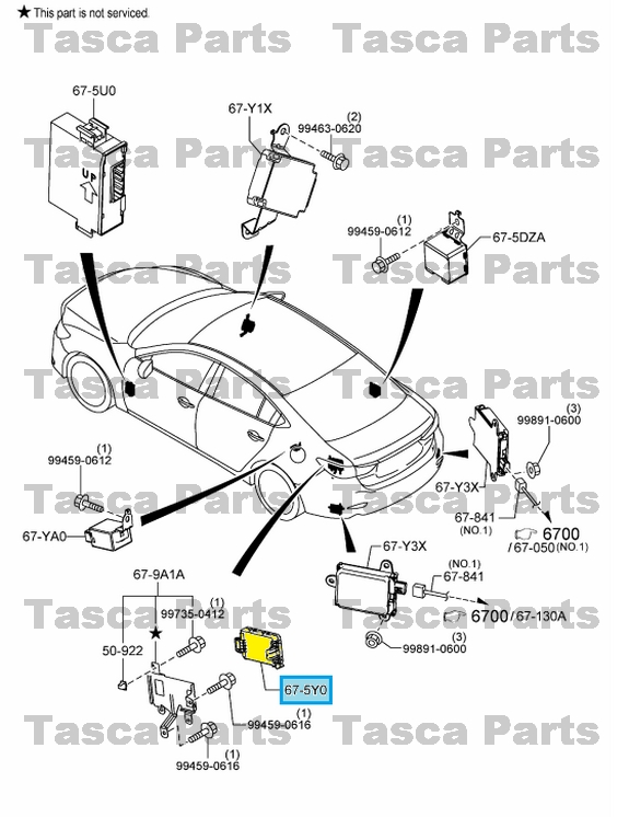 NEW OEM REAR BCM BODY CONTROL MODULE UNIT 2013-2014 MAZDA