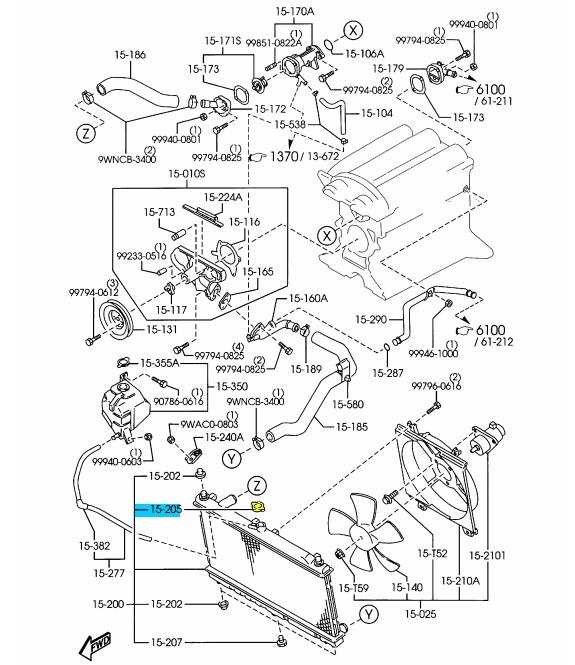 2002 Mazda Millenia Engine Diagram Radiator Cap • Wiring