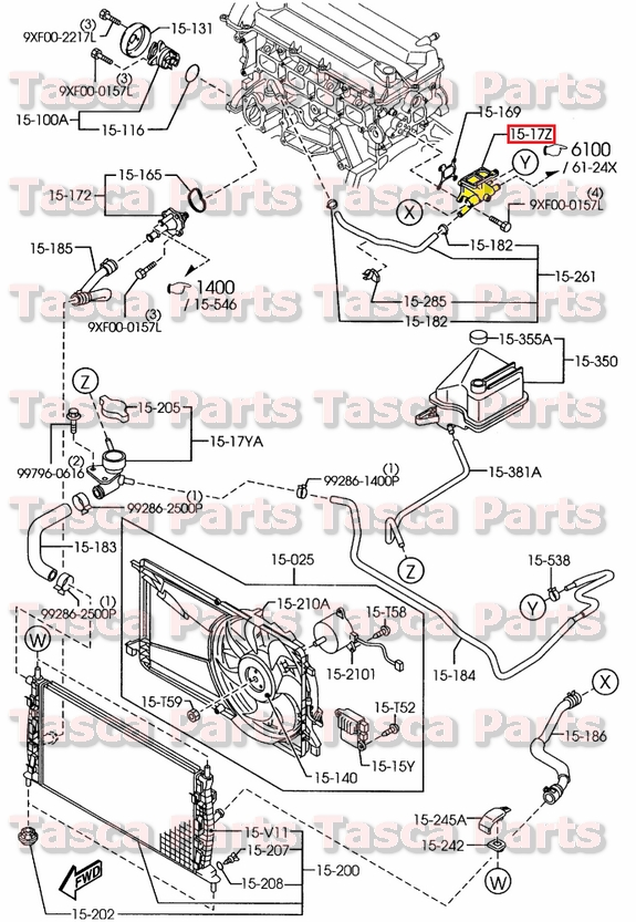NEW OEM COOLING SYSTEM THERMOSTAT WATER OUTLET FLANGE