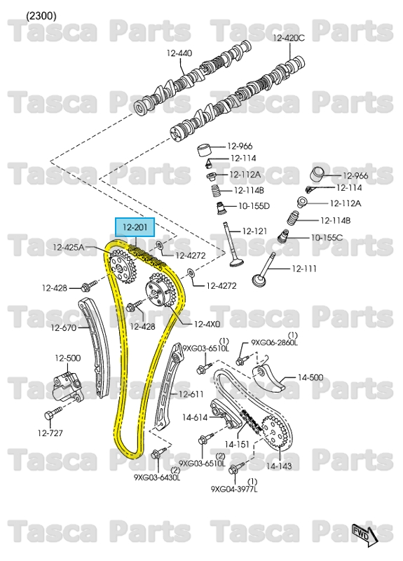 NEW OEM VALVE SYSTEM TIMING CHAIN 2.3L MAZDA 3 CX7 SPEED3