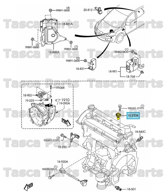 BRAND NEW OEM ENGINE CAMSHAFT POSITION SENSOR 2.3L MAZDA 3