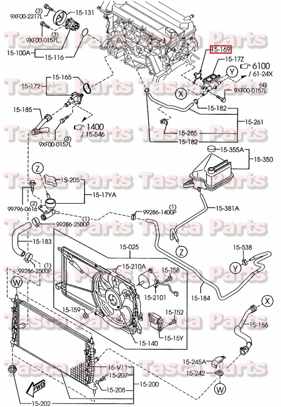 NEW OEM ENGINE COOLING SYSTEM WATER OUTLET GASKET MAZDA 3