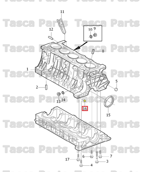 BRAND NEW OEM ENGINE CYLINDER BLOCK GUIDE SLEEVE 1992-2013