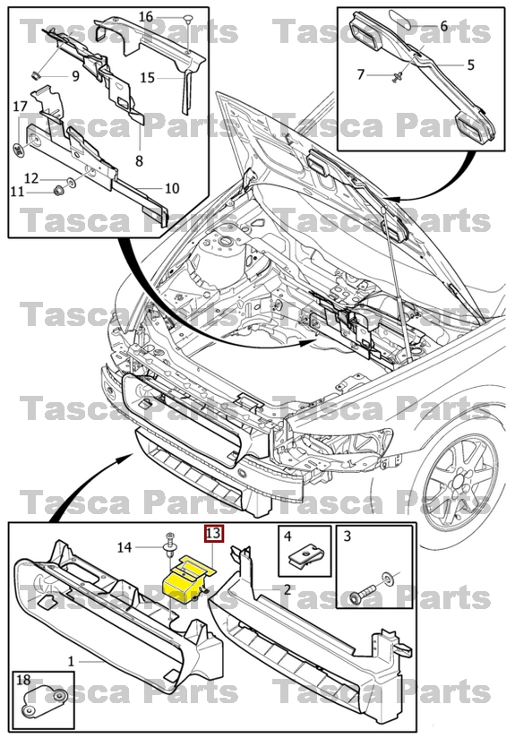 BRAND NEW OEM FRONT BUMPER AIR GUIDE CHANNEL 2004-2013