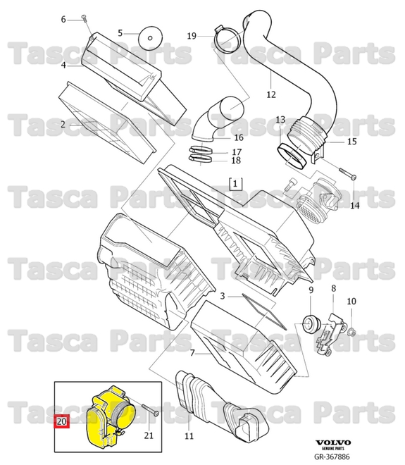 BRAND NEW OEM THROTTLE BODY 2004-2013 VOLVO C30 C70 S40