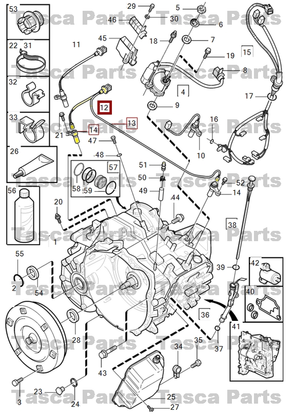 NEW OEM TRANSMISSION IN/OUTPUT SPEEDOMETER SENSOR KIT 99