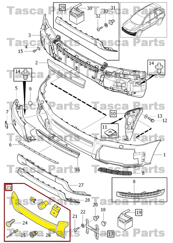 BRAND NEW OEM FRONT BUMPER BODY PANEL ACCESSORIES KIT 2003