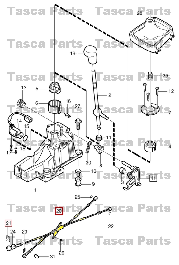 Service manual [Replace Shifter Cable 2001 Volvo S60