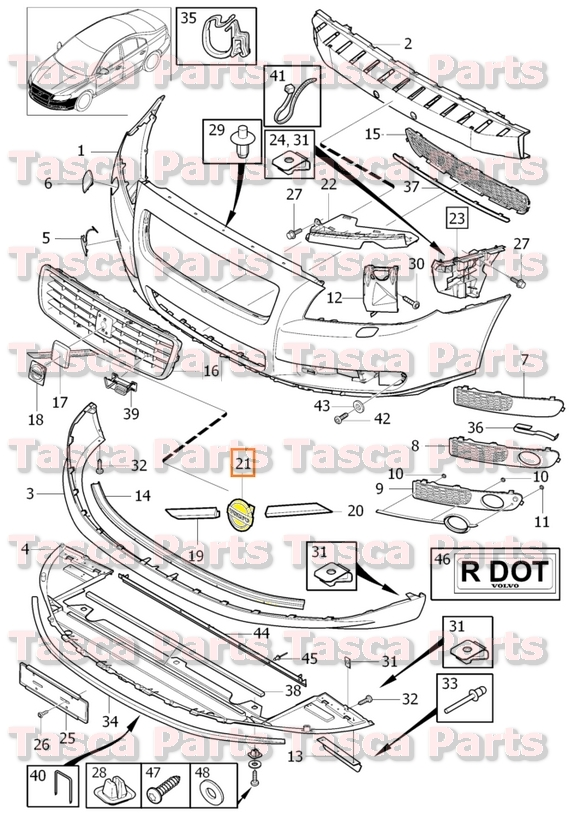 Volvo Front Bumper Parts Diagram. Volvo. Wiring Diagrams
