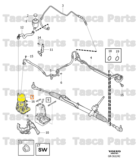 New Power Steering Pump 21-5283 for Volvo C70 S60 S70 S80