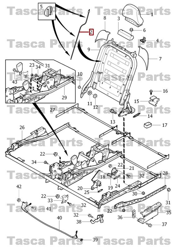 BRAND NEW OEM REAR 3rd ROW SEAT FRAME WIRE BOX 2003-2008