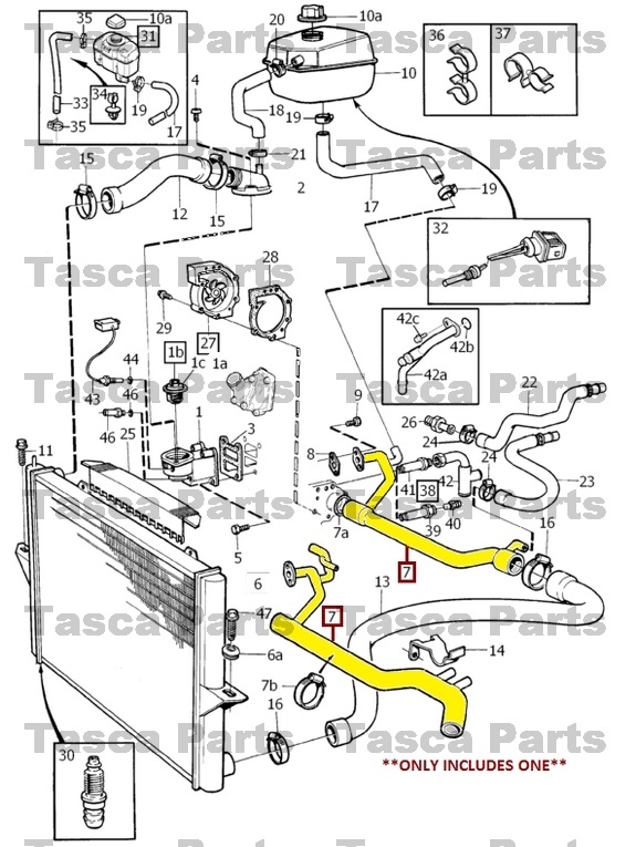 BRAND NEW OEM COOLING SYSTEM COOLANT PIPE 1994-2004 VOLVO