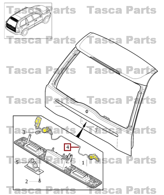 BRAND NEW OEM REAR TAILGATE LOCK SYSTEM HARNESS 2001-2014