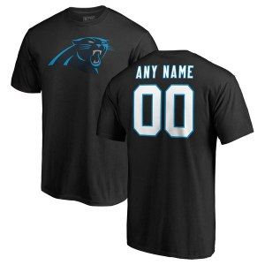 Men's Carolina Panthers NFL Pro Line Black Any Name & Number Logo Personalized T-Shirt