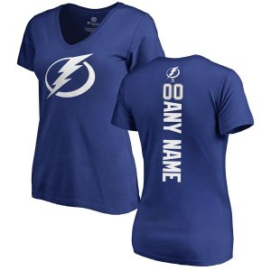 Women's Tampa Bay Lightning Fanatics Branded Blue Personalized Backer T-Shirt