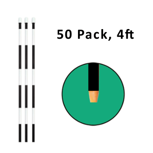 "Reflective Driveway Marker 4"" Black 50 Pack"