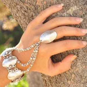 Silver ring-bracelet.