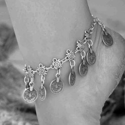 Multiple coin anklet