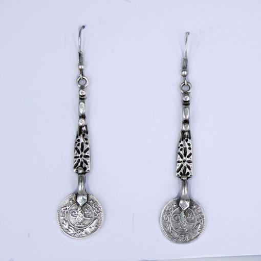 Hanging coin earrings