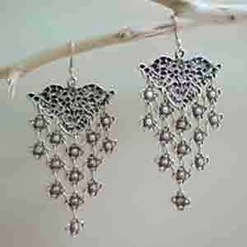 Hanging earrings