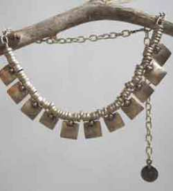 Silver Turkish necklace.