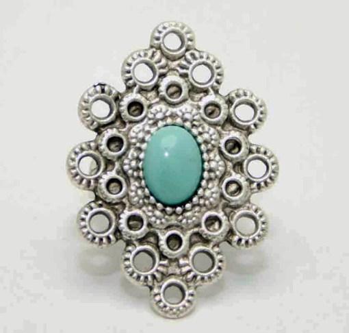 Boho turquoise ring