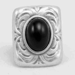 Small black rock ring