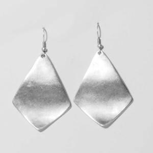 silver sheet earrings