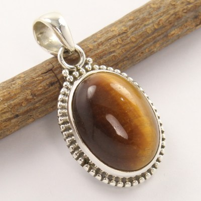 925 silver tiger eye pendant