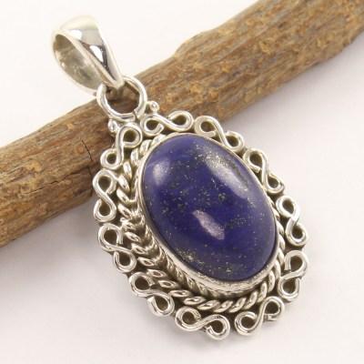 Lapis Lazuli and 925 silver pendant