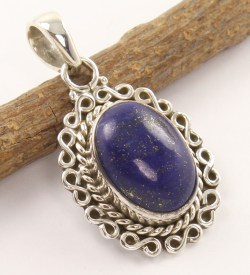 Lapis Lazuli and 925 silver pendant