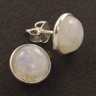 925 silver rainbow moonstone earrings