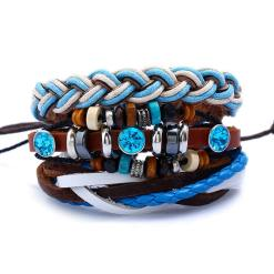 Blue multi layer bracelet