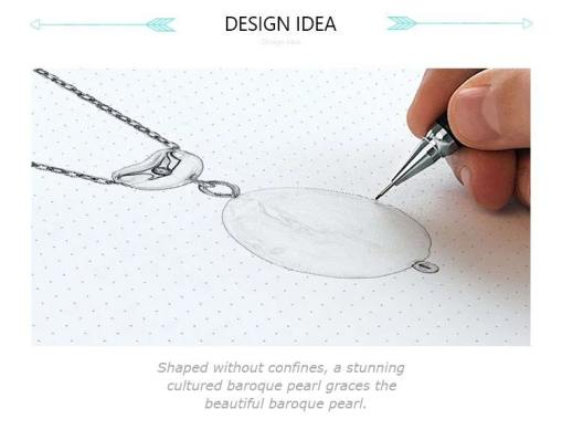 Pearl necklace design