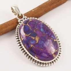 Purple copper turquoise pendant