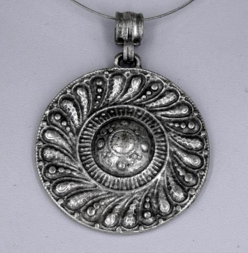 Silver shield pendant