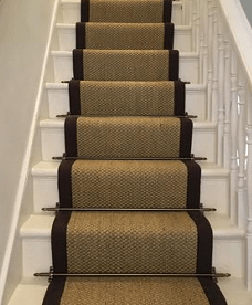 Stair Runner Carpet Fitting W Stair Rods Wholesale Carpets