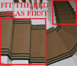 How To Fit Stair Runners To Winding Stairs Wholesale Carpets   Fitting Sisal Carpet On Stairs   Seagrass   Herringbone Carpet Runner   Grey   Seagrass Stair Runners   Stair Tread